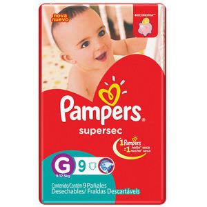 PAMPERS PAÑAL SUPERSEC G