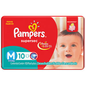 PAMPERS PAÑAL SUPERSEC M