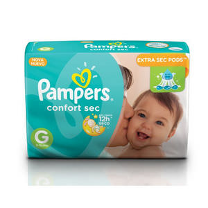 PAMPERS PAÑAL CONFORT SEC P