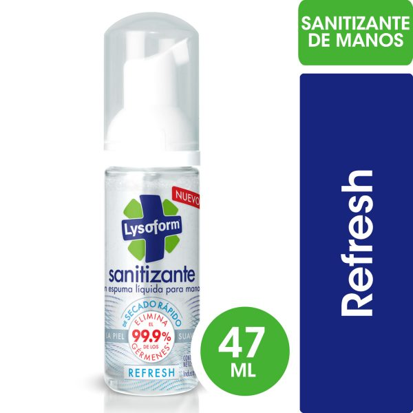 SANITIZANTE PARA MANOS LYSOFORM REFRESH x 47ml