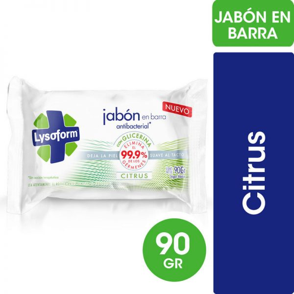 JABÓN EN BARRA LYSOFORM CITRIC 90gr